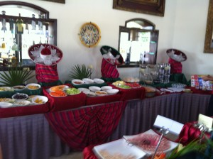 I recommend Mexico if only for the breakfast buffets.  Playa Del Carmen, Mexico. February 2012.