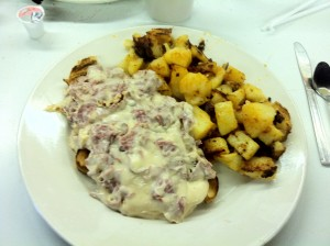 Cream chipped beef from Mother Cupboard's Fish Fry - Syracuse, NY