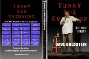 Funny for Everyone DVD by Comedian Dave Goldstein